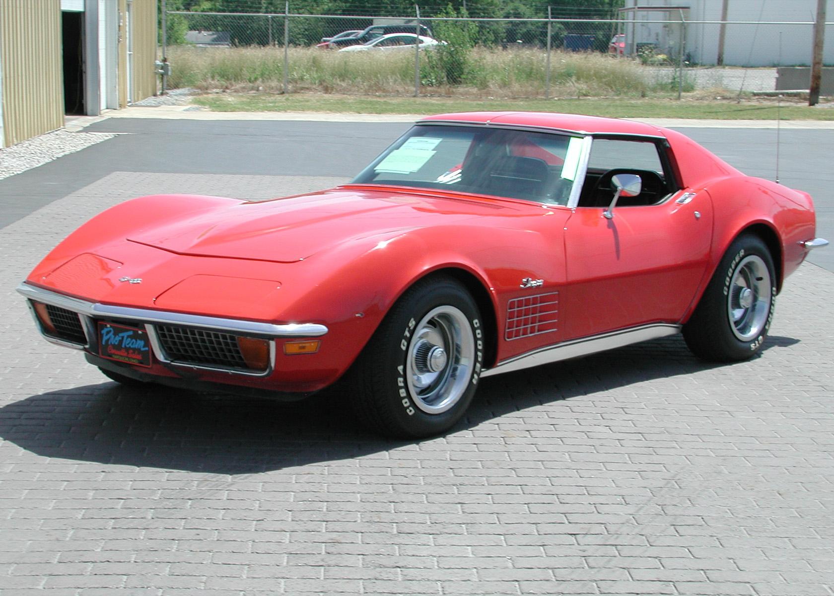 1972 Corvette Photo Proteam Classic Corvettes