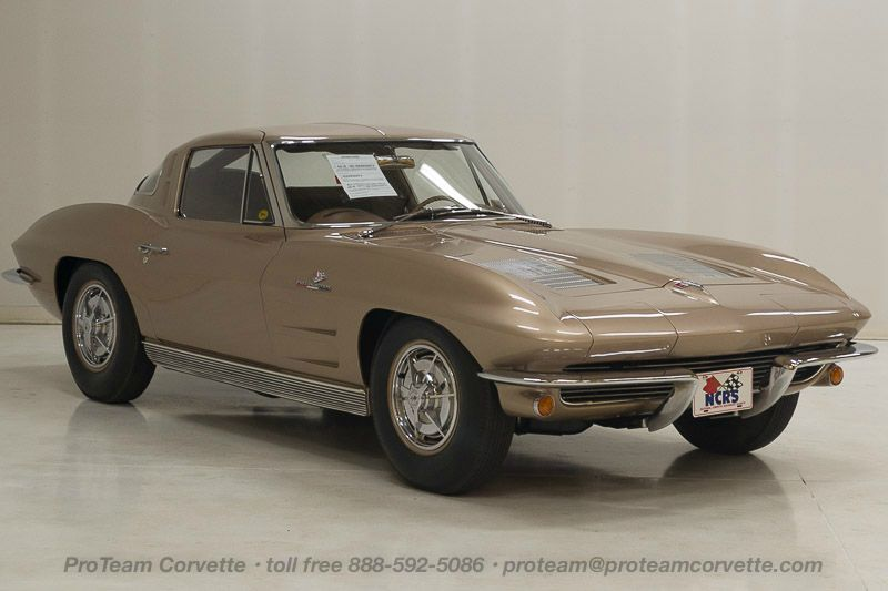 1069j  1963 corvette z06 tanker split window coupe, 327-360 hp, (fuelie), 4  speed, numbers matching, also has factory original body/trim tag