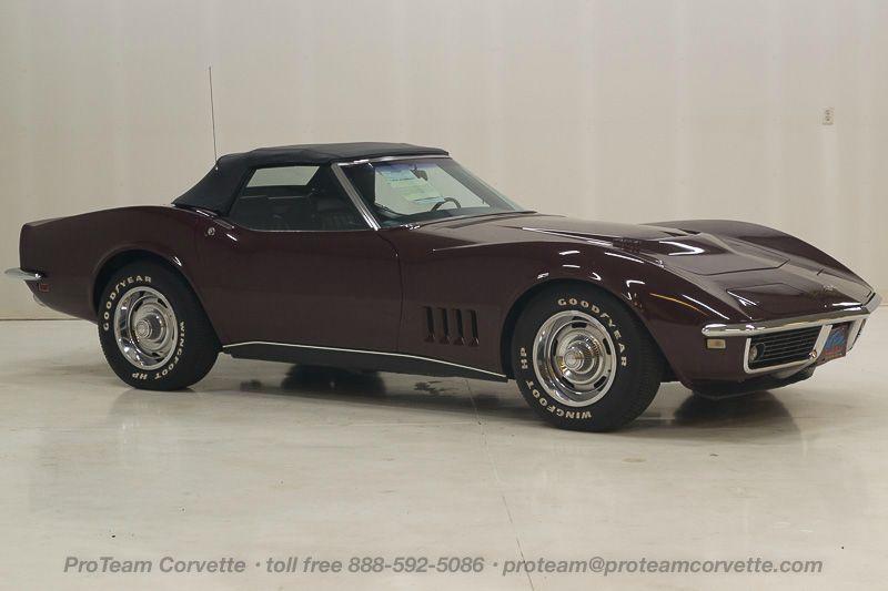 1968 Corvette Radio 1 - J Corvette Convertible Speed Nom Cordovan Maroon Paint With Black Interior And Black Soft Top - 1968 Corvette Radio 1