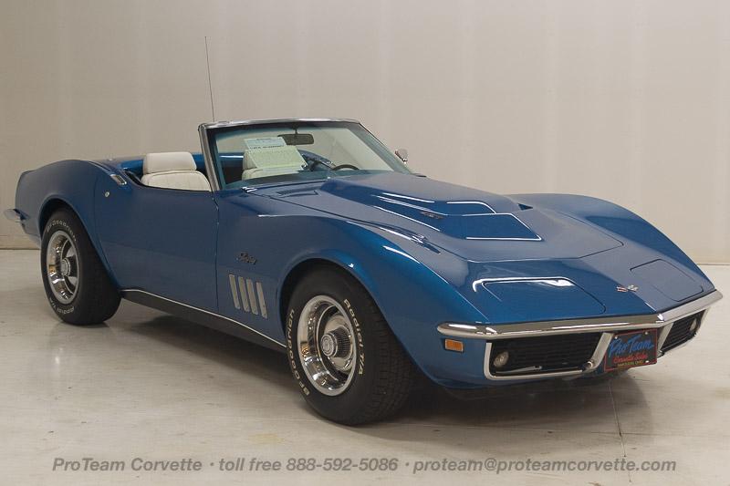 J on 1969 Chevrolet Lemans Blue Corvette Convertible